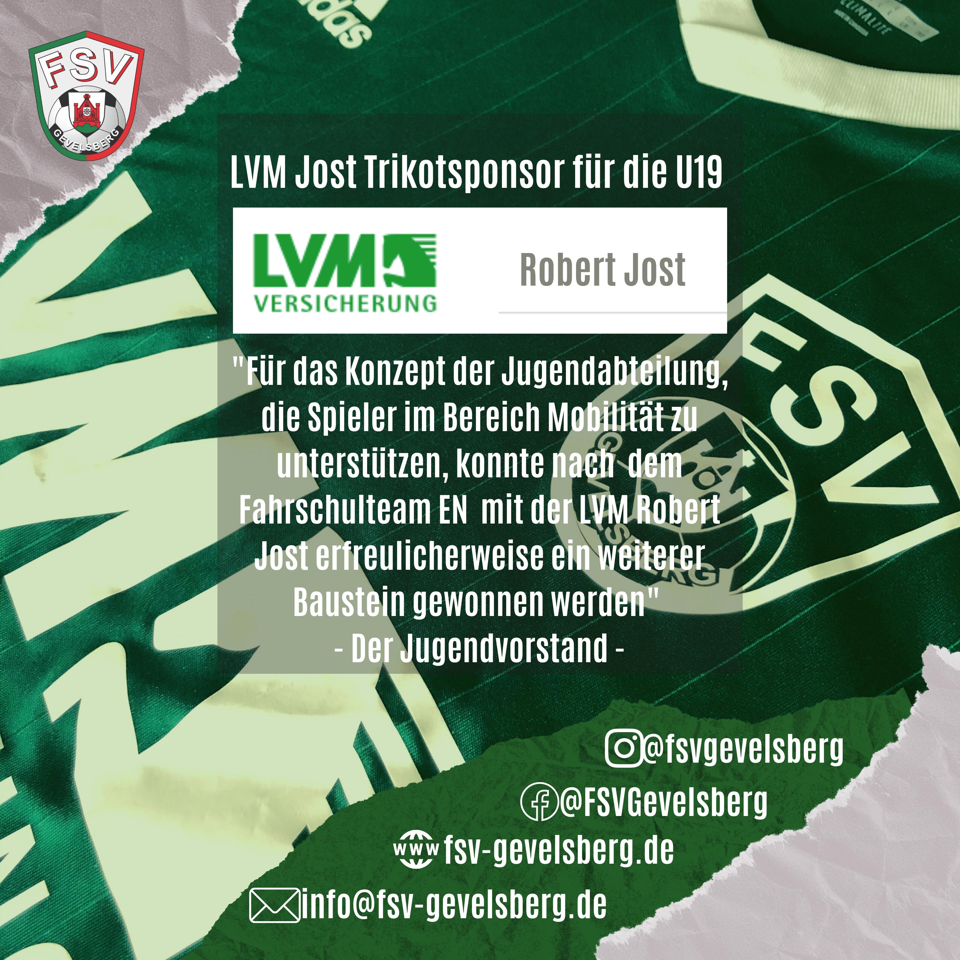 LVM Jost Trikotsponsor für die U19