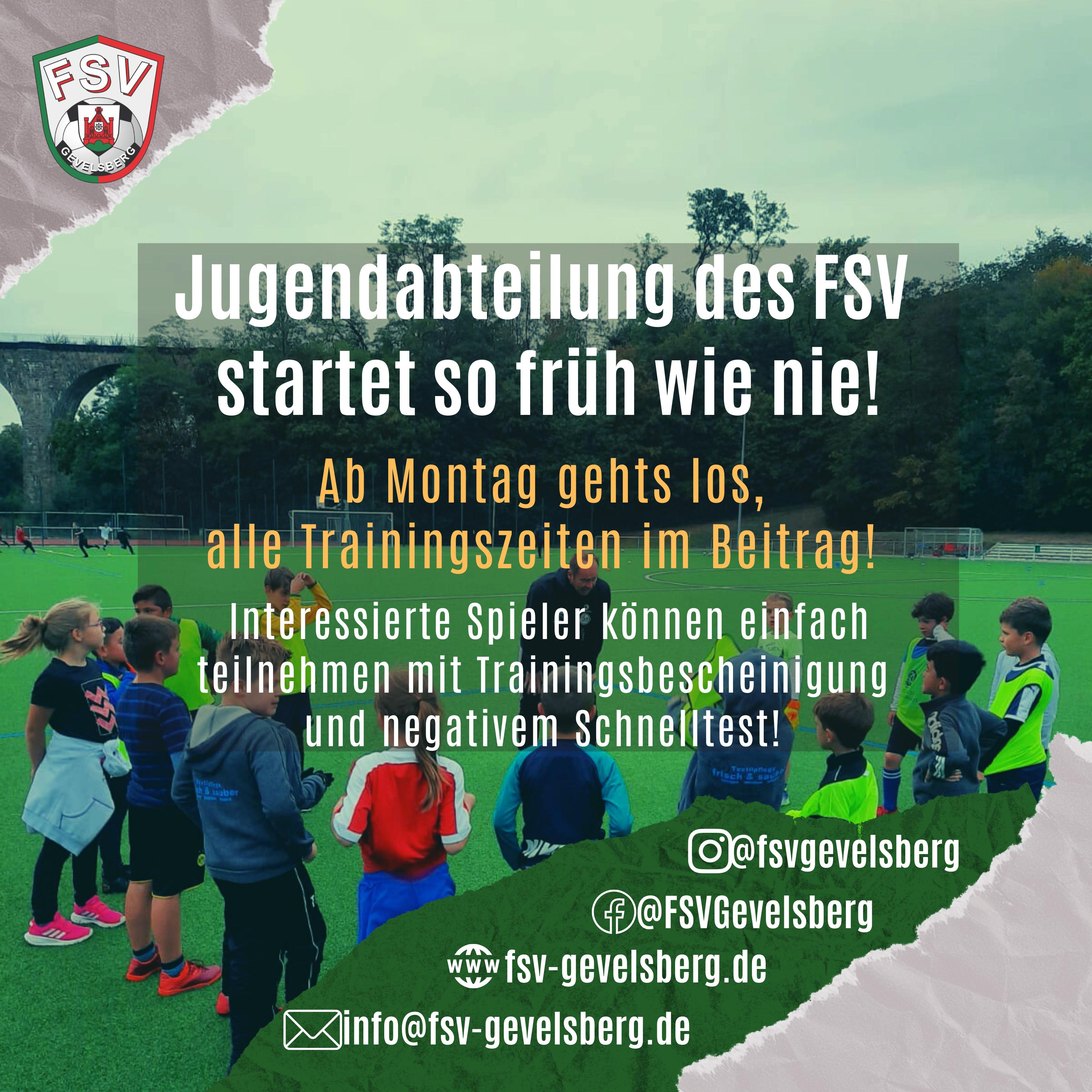 Jugendabteilung des FSV startet in die neue Saison