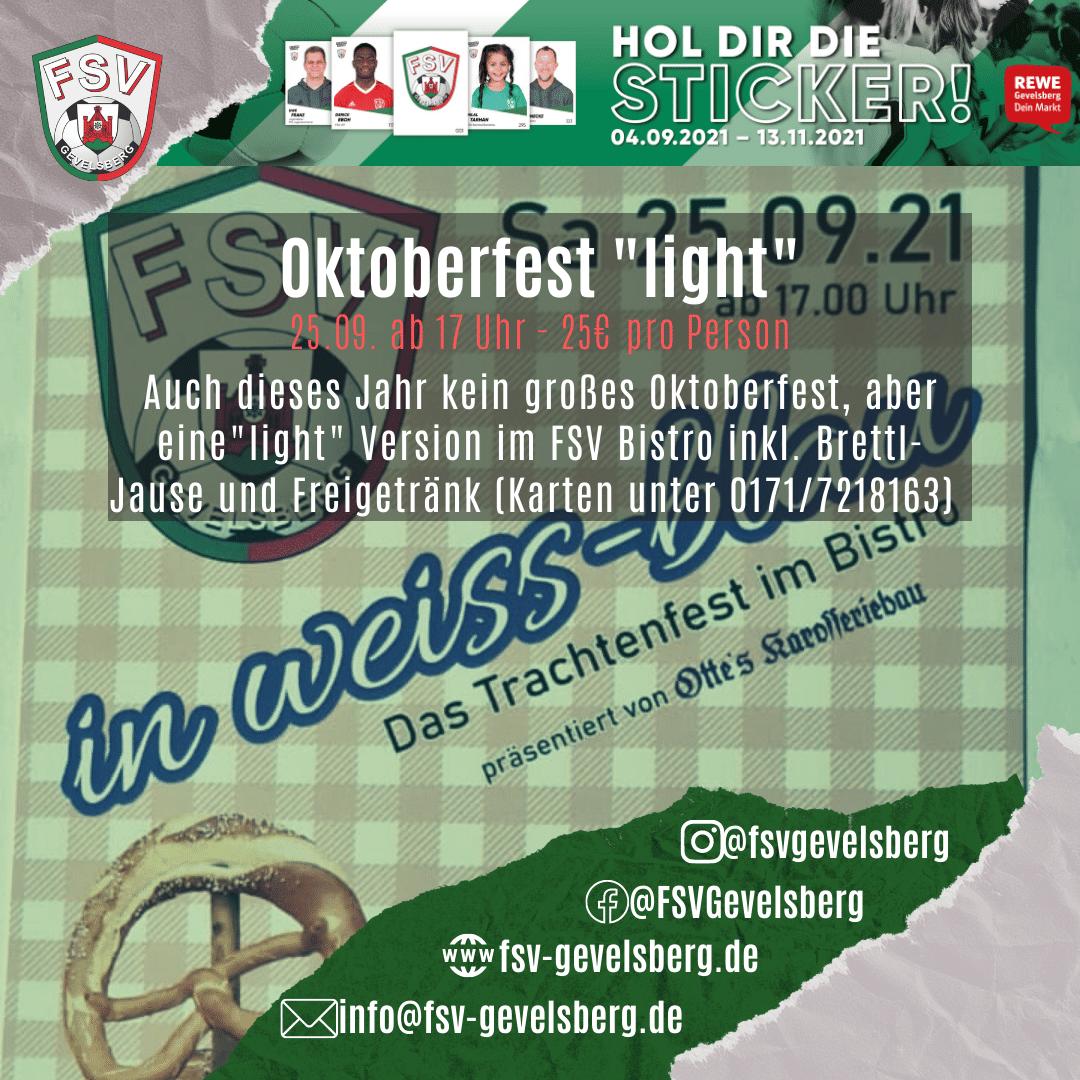 """Oktoberfest """"light"""" am 25.09.21"""